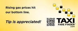 Taxi Fare Finder gas price and tip sticker 100 pixels