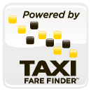 Taxi Fare Finder Powered By 130 pixels white box